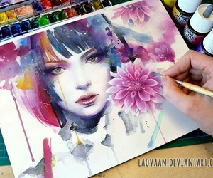 art, colors, and beautiful image