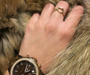 fur, watch, and kors image