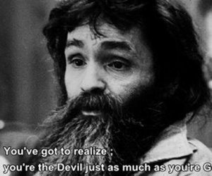 Charles Manson, god, and Devil image