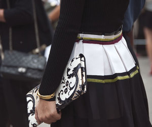 fashion, clutch, and outfit image