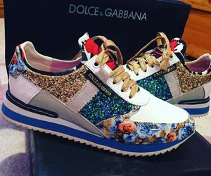 dolce and gabbana, golden, and shoes image