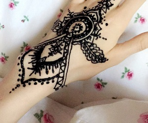 art, black, and henna image