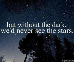 stars, dark, and quotes image