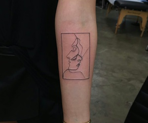 tattoo, art, and pale image