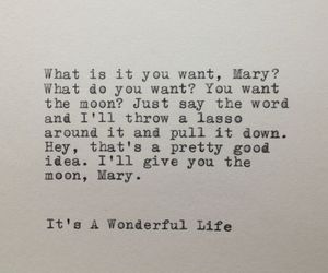 moon, quote, and it's a wonderful life image