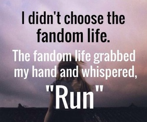 fandom, life, and run image