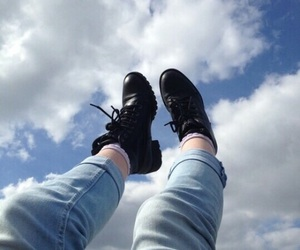 blue, sky, and tumblr image
