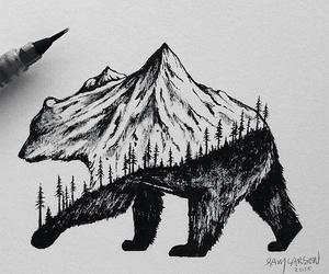 art, bear, and drawing image