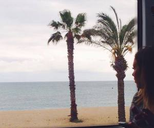 beach, palm trees, and spain image