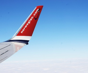 airplane, norwegian, and spain image