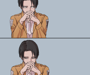 attack on titan and levi rivaille image