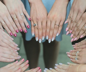 girls, ladies, and manicure image