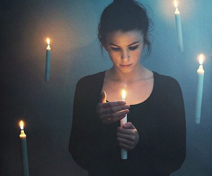candle, magic, and fire image