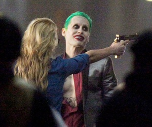 harley quinn, joker, and jared leto image