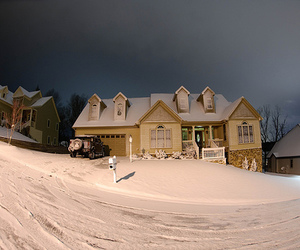 house, snow, and photography image