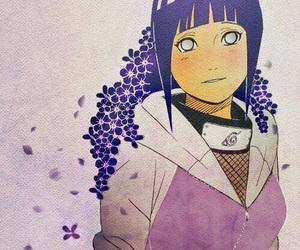 hinata, anime, and flowers image
