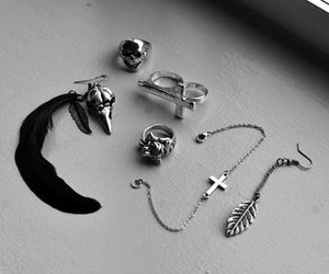 fashion, cross, and rings image