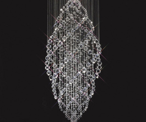 chandelier, crystal, and lighting image