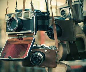 antique, cameras, and oldschool image