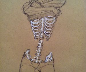 drawing, skeleton, and bones image
