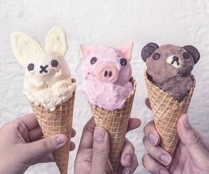 ice cream, food, and pig image