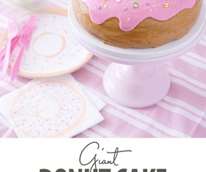 cake, donut, and pink image