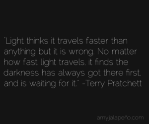 Darkness, terry pratchett, and light image