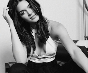 black&white, kendall jenner, and boobs image