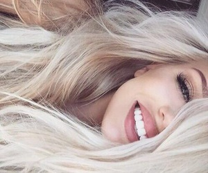 blonde, smile, and girl image