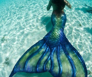aesthetic, mermaid, and beach image