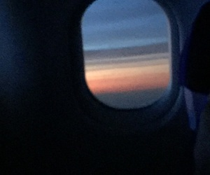 airplane, blue, and dawn image
