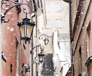 city, winter, and cozy image