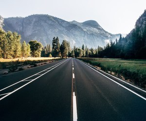 road, nature, and mountains image
