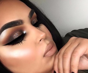 eyebrows, contour, and makeup image