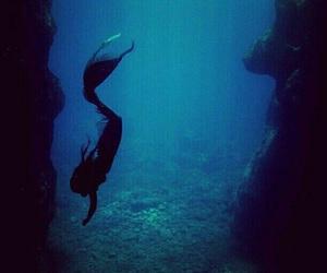 mermaid, blue, and fantasy image