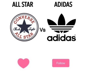 adidas, all star, and converse image