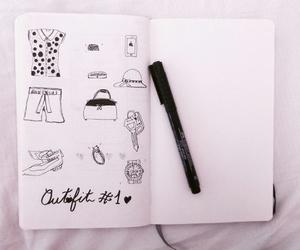art, drawing, and journaling image