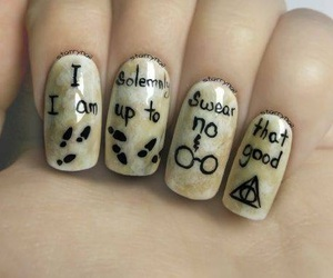 harry potter, nails, and art image