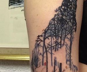 tattoo, loup, and chaperon rouge image