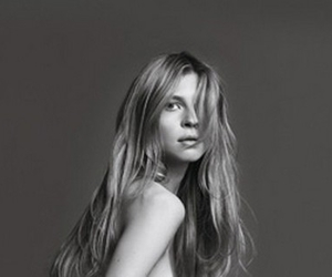 clemence poesy, black and white, and hair image
