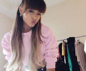 hair, pink, and ariana grande image