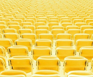 yellow, chair, and seats image
