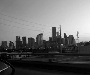 blackandwhite, cities, and houston image