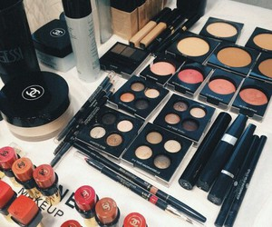 makeup, chanel, and goals image