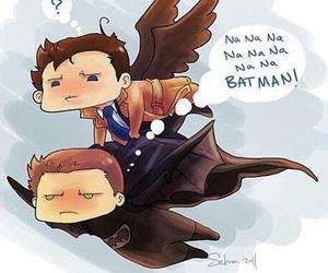 supernatural, castiel, and batman image