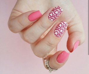 beauty, manicure, and pink image
