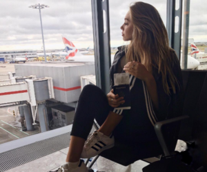 alexis ren, airport, and travel image