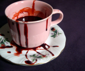 blood, cup, and tea image