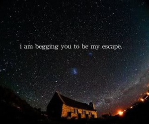 escape, stars, and text image