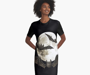 bats, dress, and vampire image